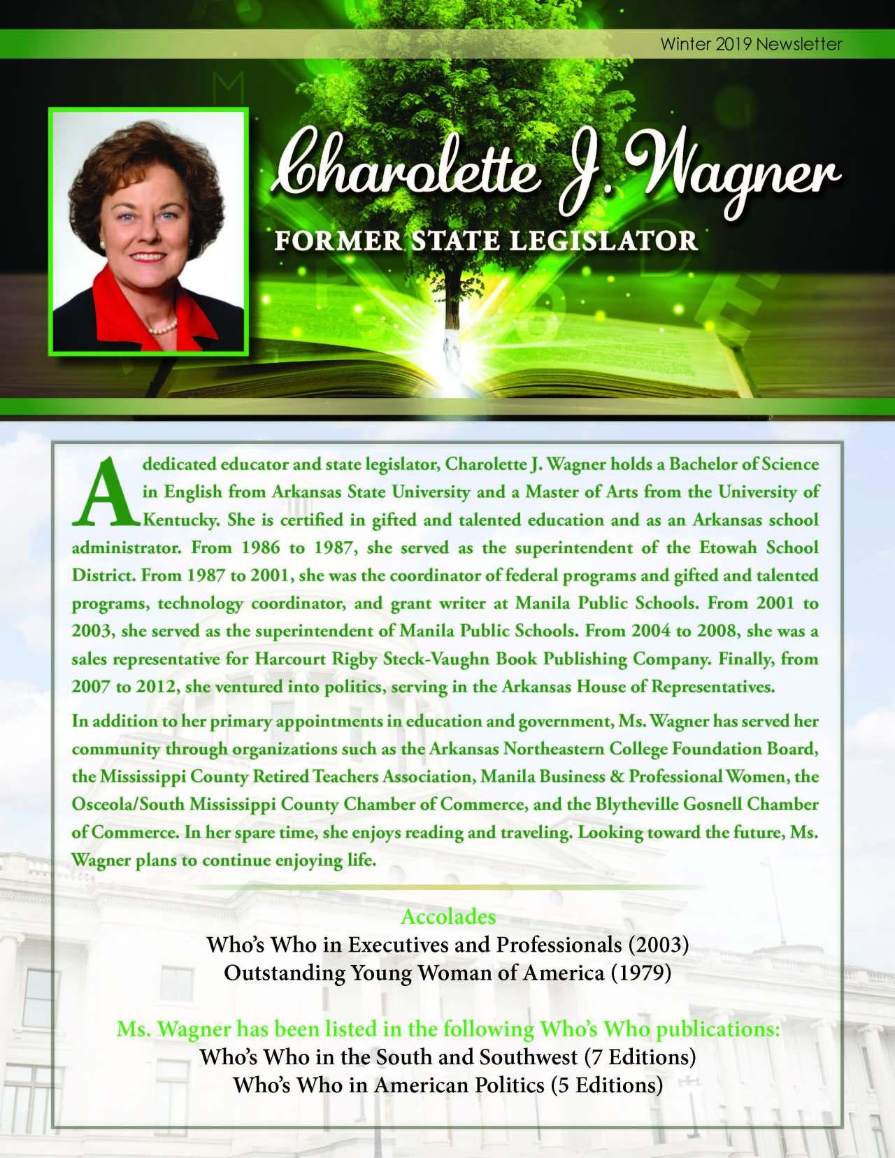 Wagner, Charolette 4119225_3381806 Newsletter REVISED