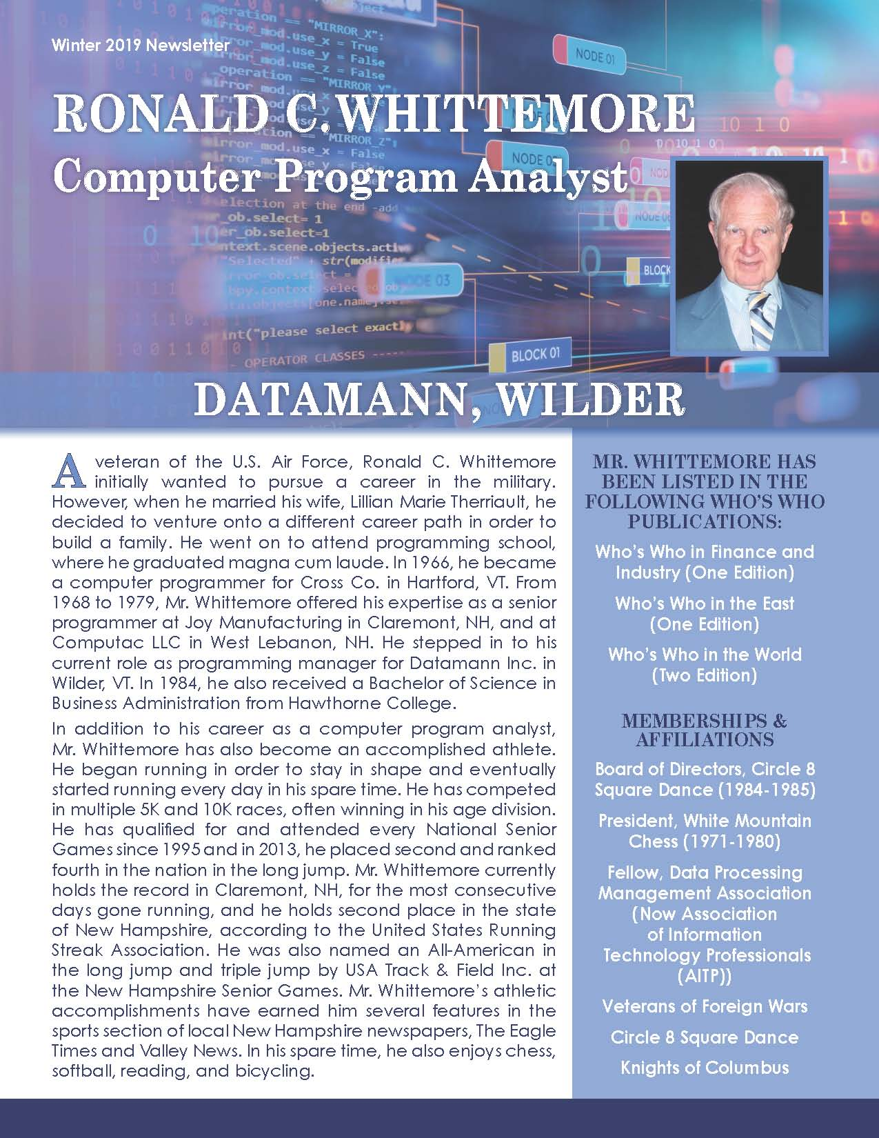 Whittemore, Ronald 4050762_2848611 Newsletter