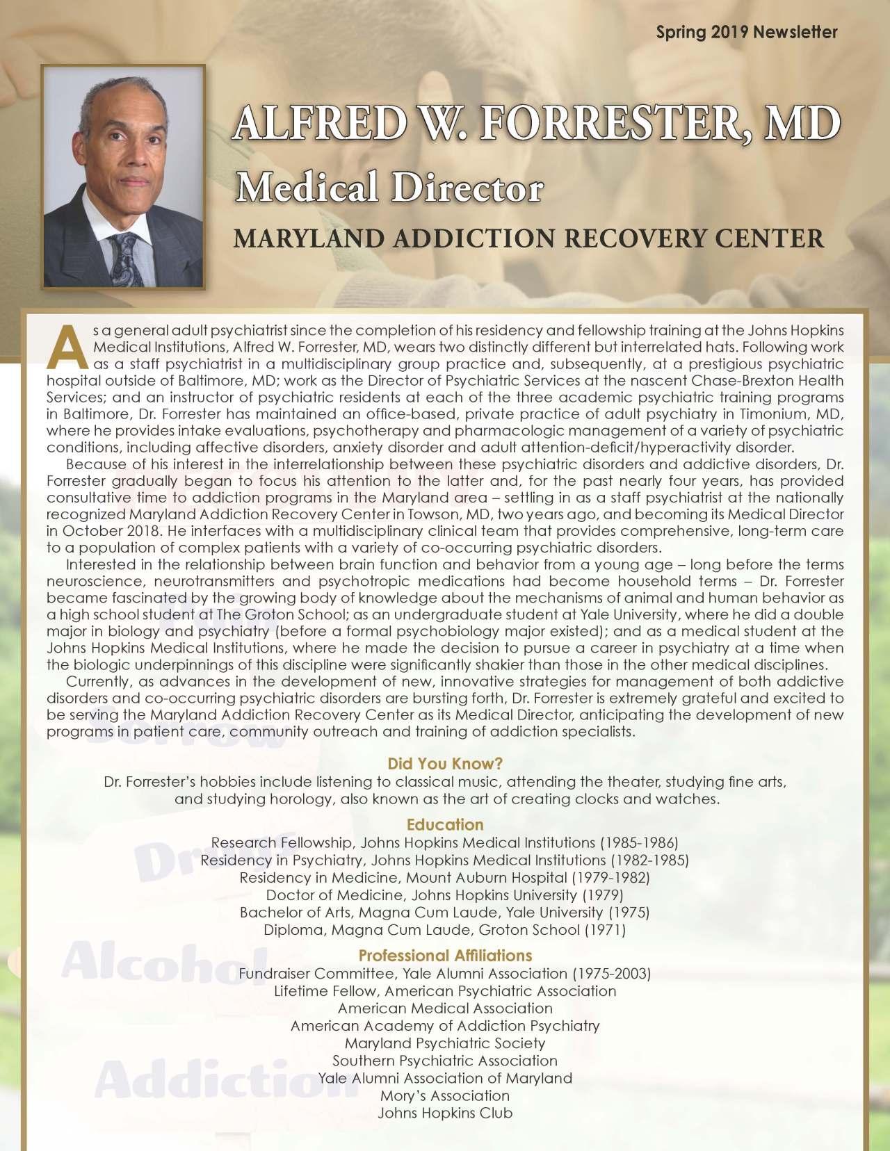Forrester, Alfred 2161686_6499503 Newsletter REVISED