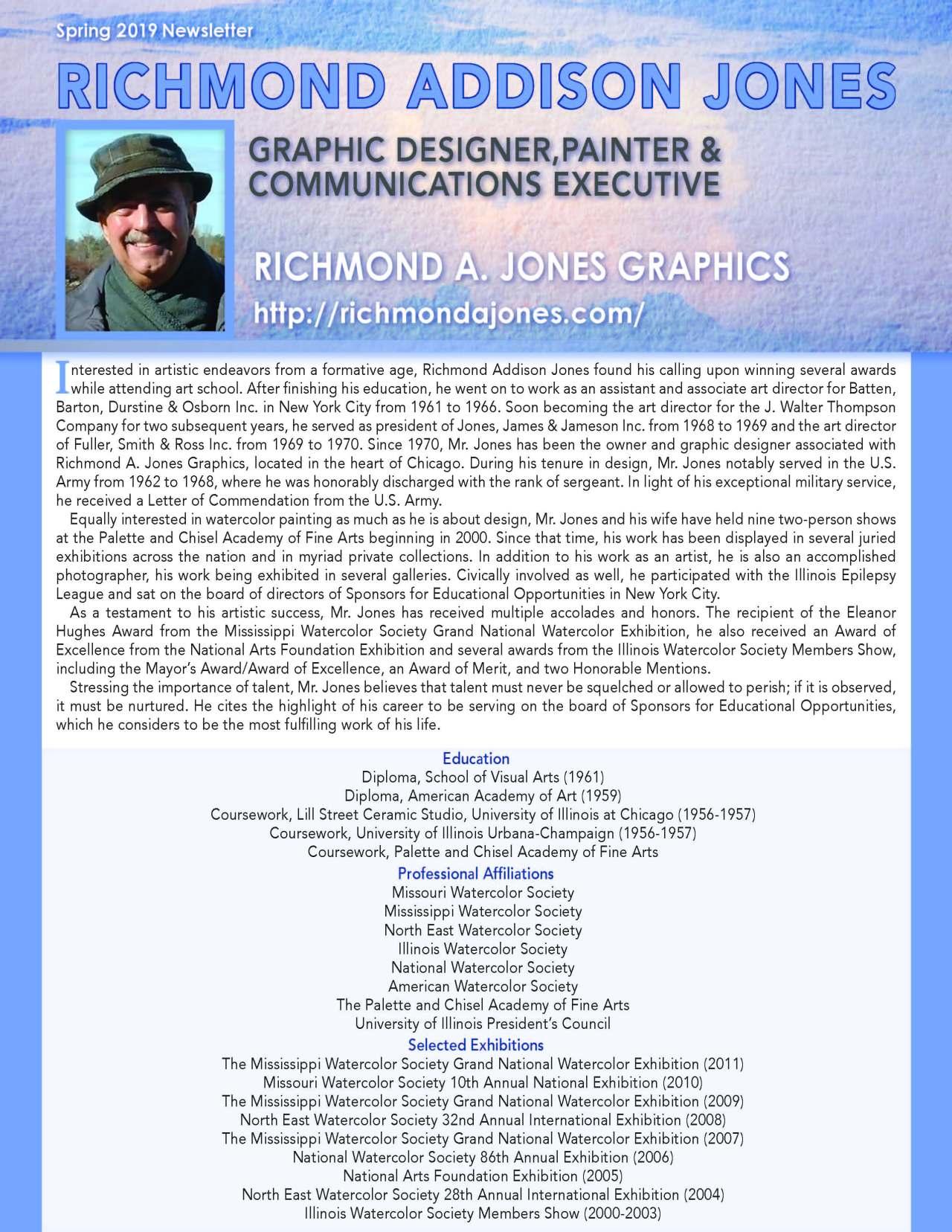 Jones, Richmond 4168967_16393407 Newsletter REVISED