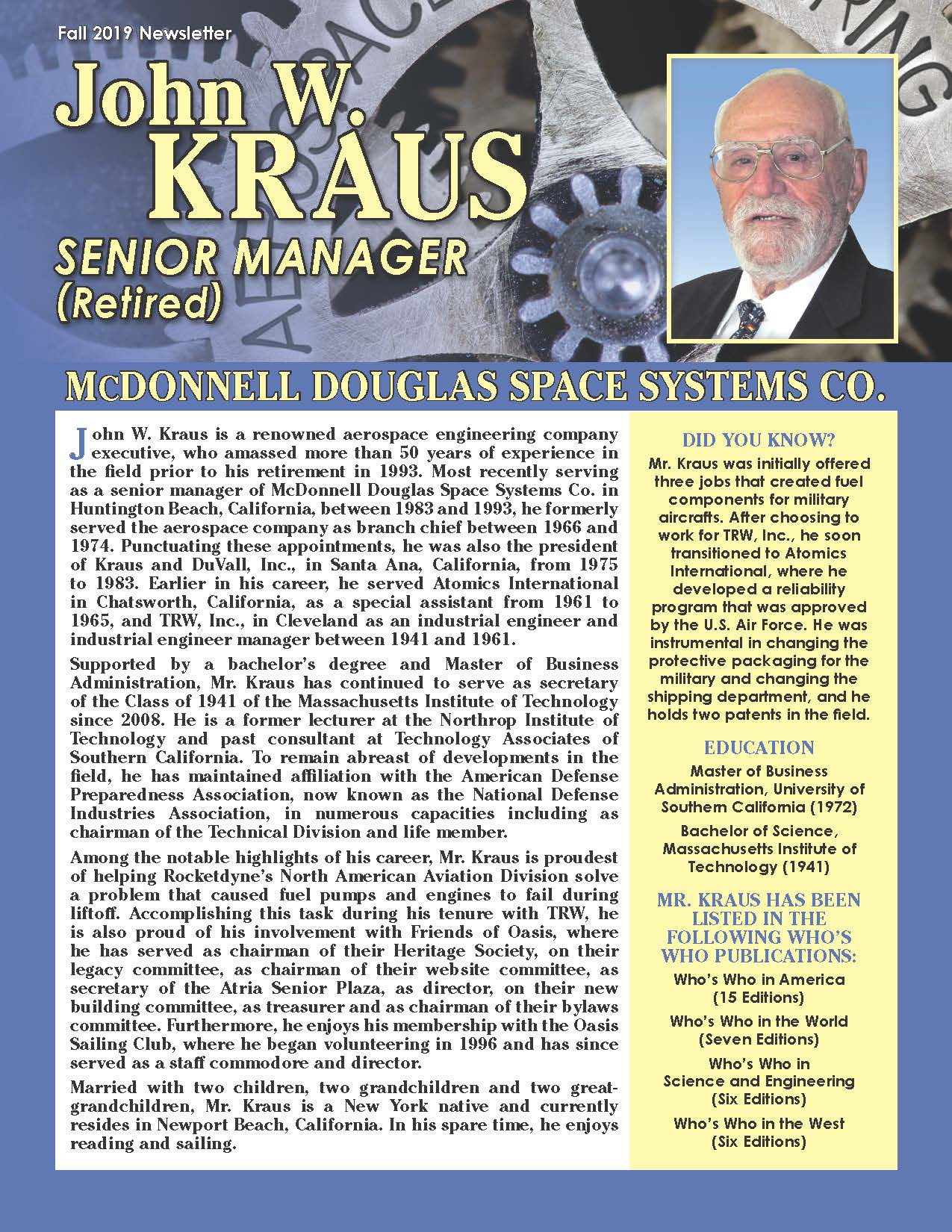 Kraus, John 3940948_15962699 Newsletter