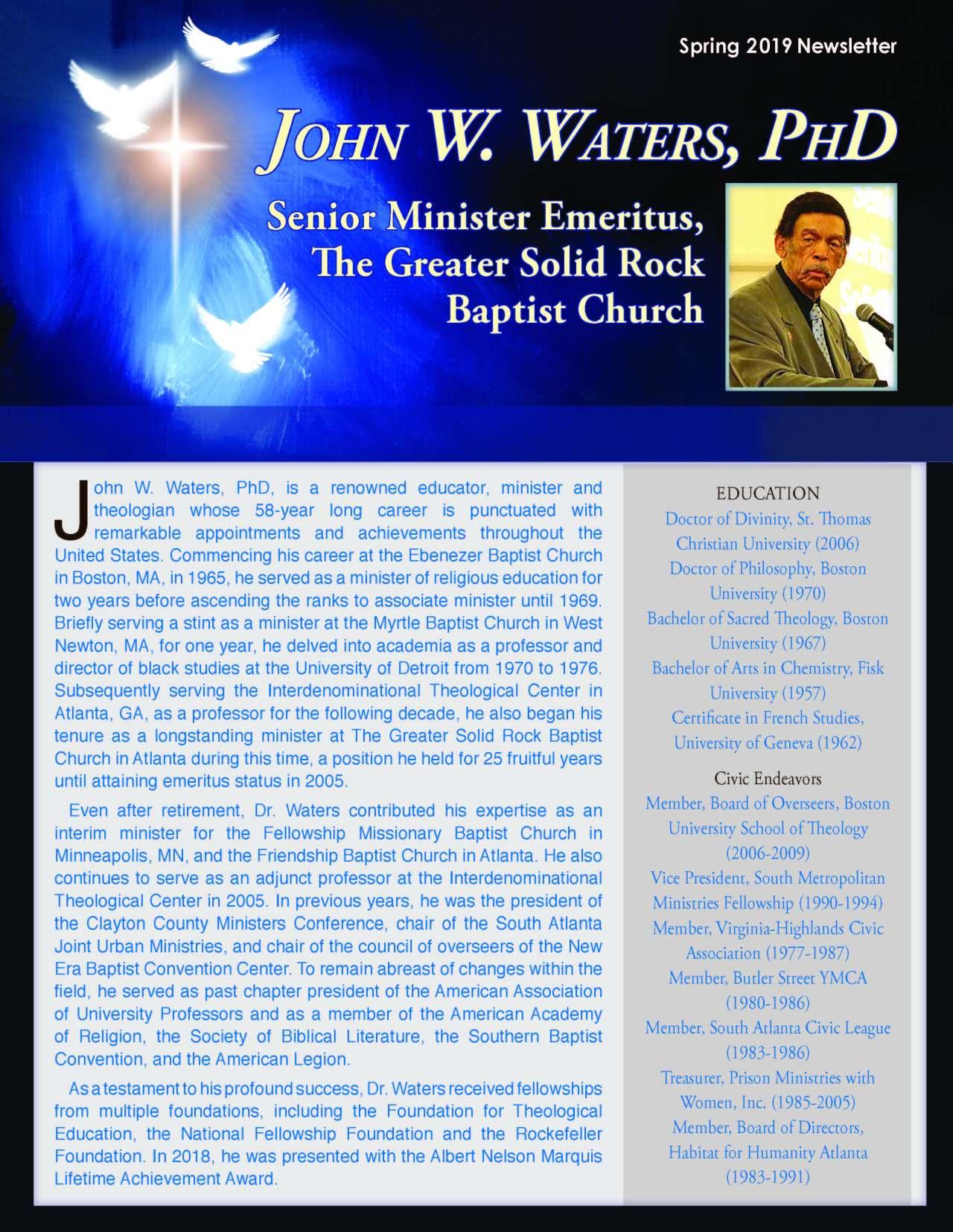 Waters, John 3966828_20264735 Newsletter REVISED