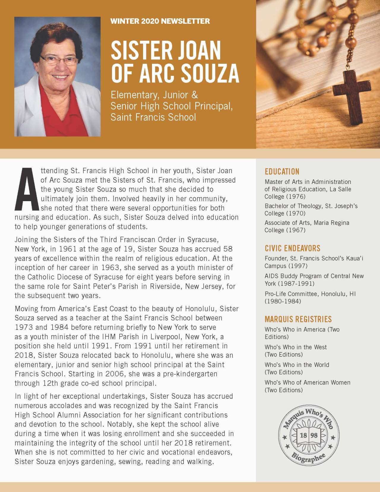 Souza, Joan of Arc 4796551_26419953 Newsletter