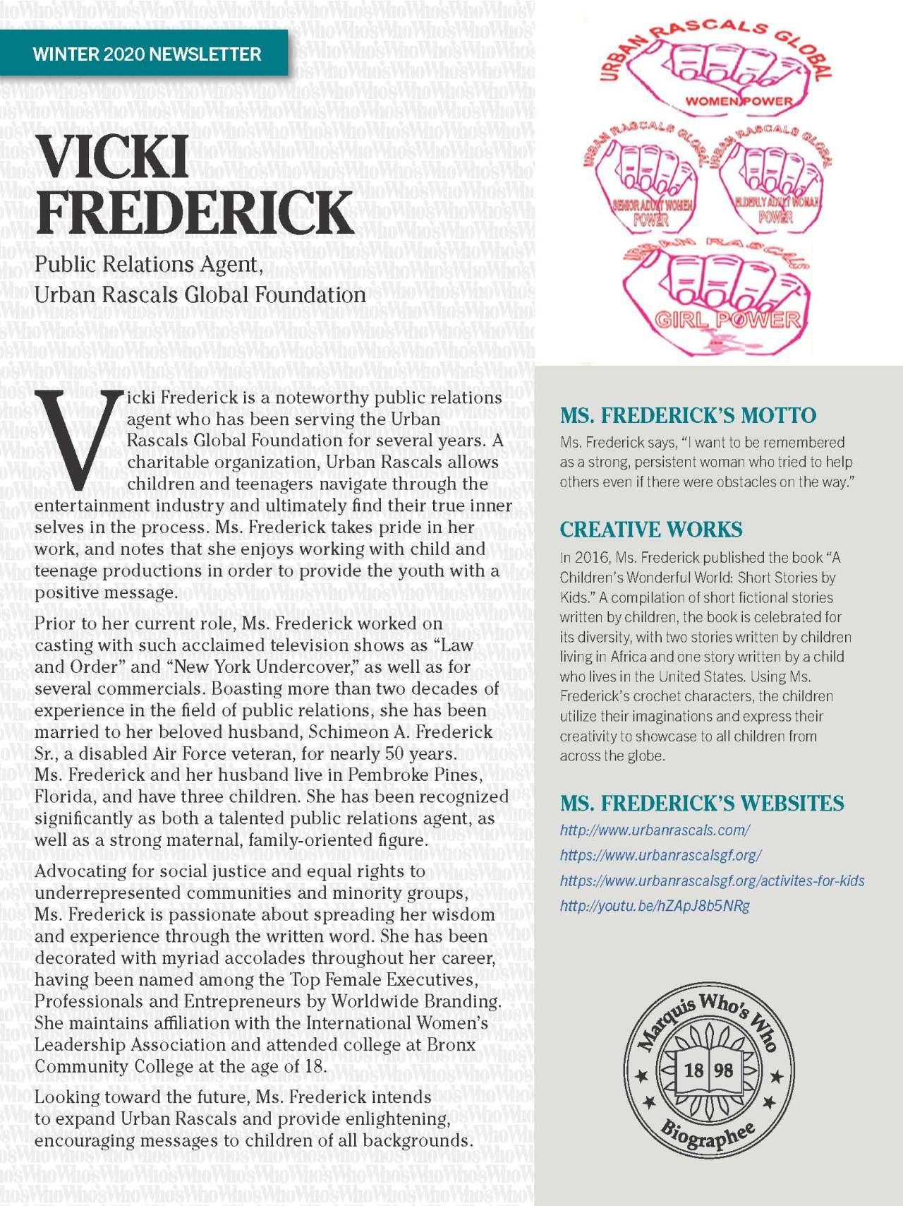 Frederick, Vicki 1986489_4001986489 Newsletter REVISED