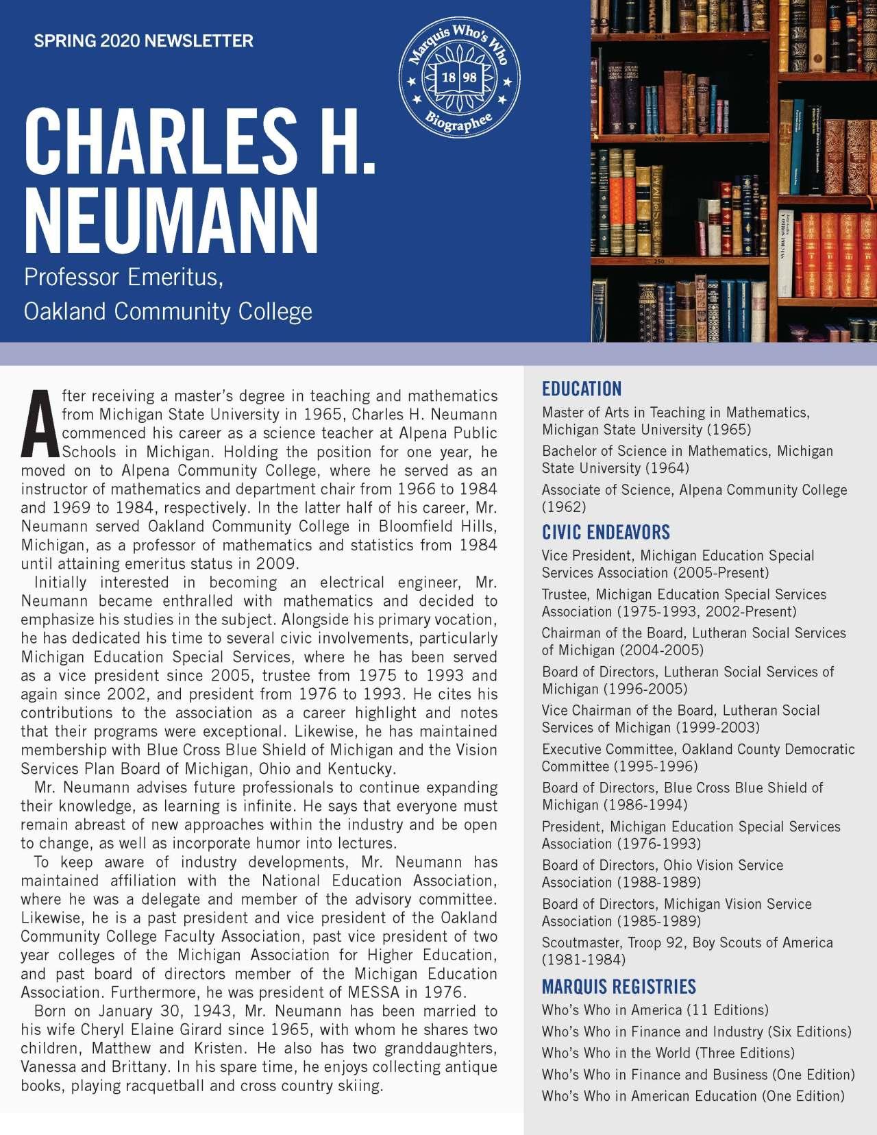 Neumann, Charles 4317596_22799233 Newsletter
