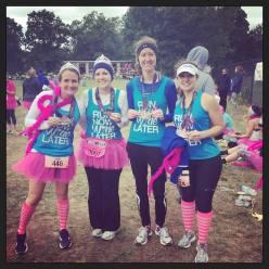 Riann Doyle, Kim Truesdell, Amanda Cannon, and Savannah at the Long Island Diva half Marathon