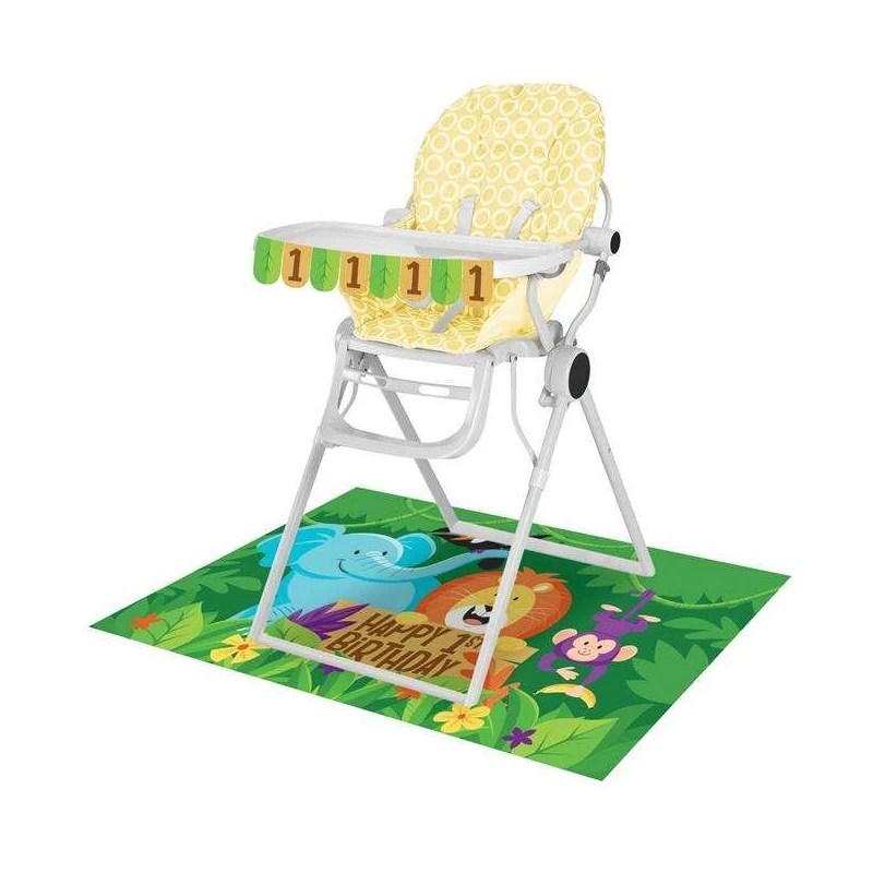Jungle Safari 1st Birthday High Chair Decorating Kit Jungle Party Supplies Who Wants 2 Party