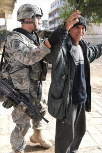 U.S. Army security sweep, Baghdad. U.S. Army/Wikimedia.