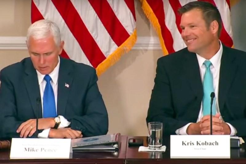 Mike Pence, Kris Kobach