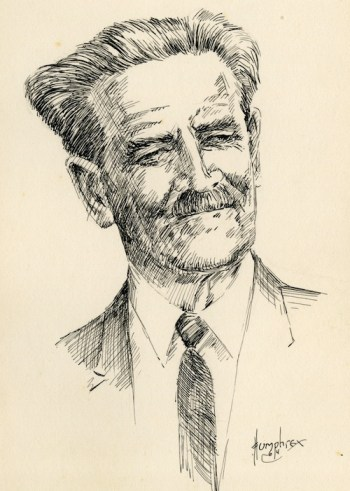 1964 portrait of Emerson Davis by Humphrey.