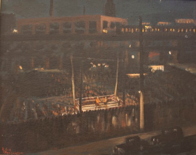"Boxing Ring, Under New York Street Lights, 16""W x 20""H"