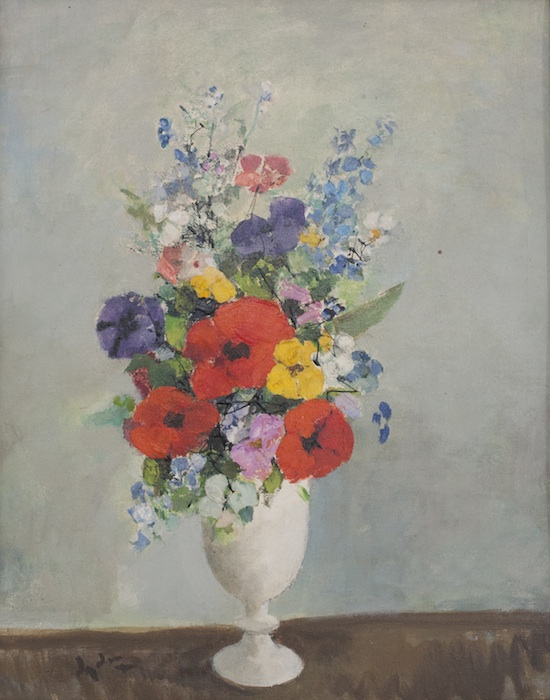 "More Flowers in a White Vase, 15"" x 19"""