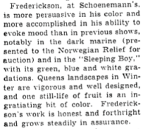 """Excerpt from Howard Devree's column """"A Reviewer's Notebook"""" in the New York Times, Nov. 10, 1940."""