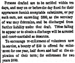 Details of the Conscription Act from the Springfield Republican, continued.