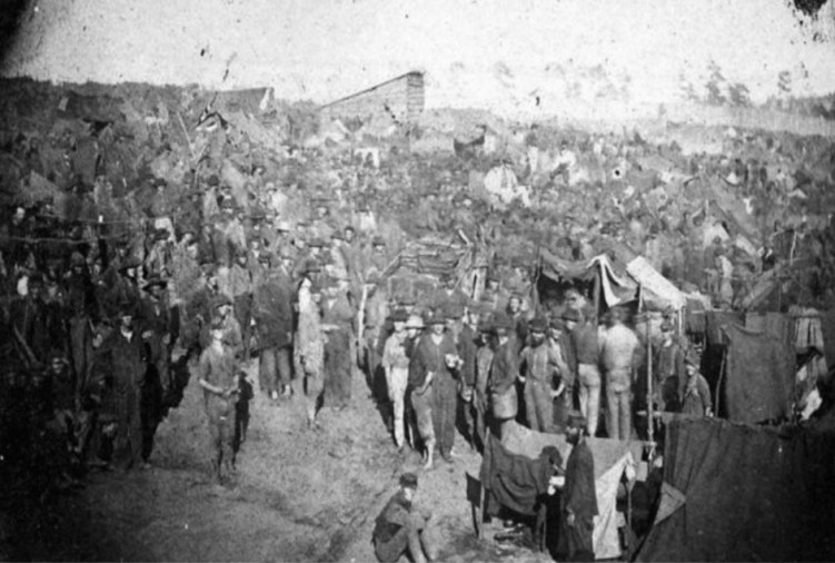 Photograph of Andersonville Prison.