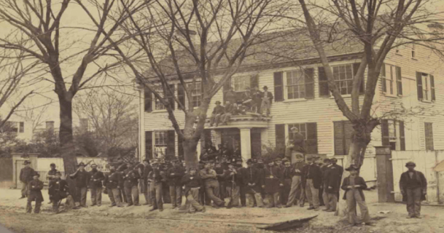 Massachusetts troops in New Bern, NC.