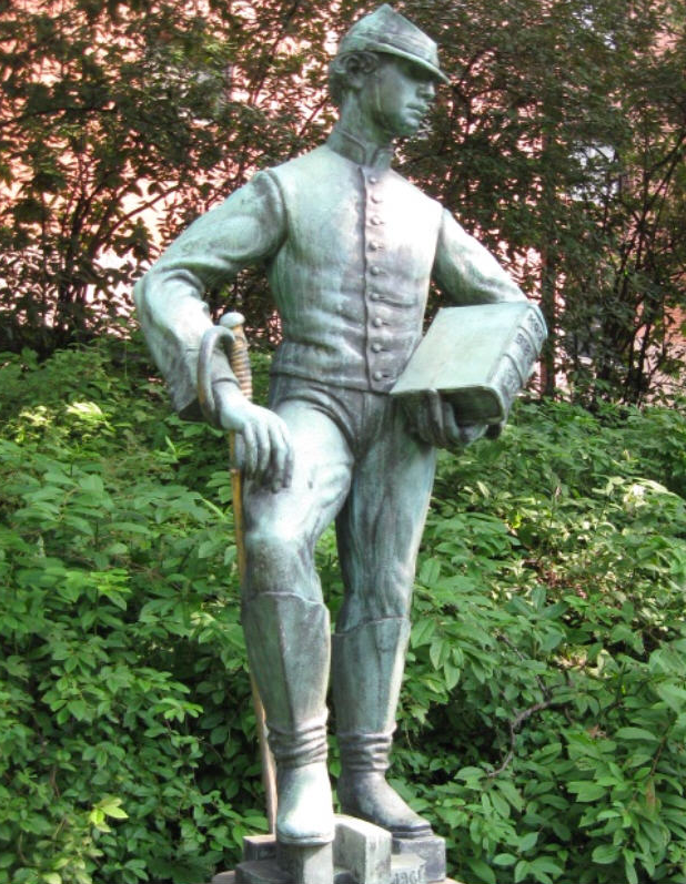 Statue of Johnny Ring at Temple University, Philadelphia.
