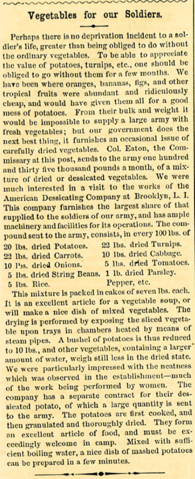 Article from the American Agriculturalist, 1863.