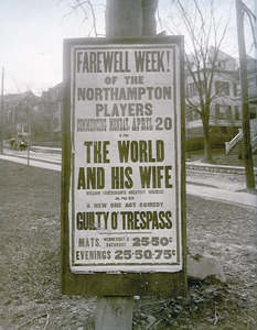 "Poster for staging of ""Guilty O'Trespass"" in Northampton."