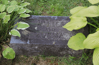 Footstone of Walter and Eurma.