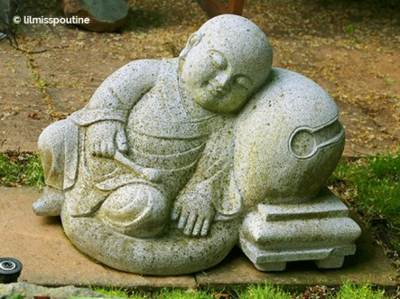 Dozing Buddhist Acolyte