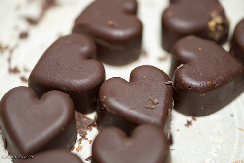 chocolate hearts photo