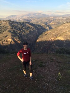 Monica Sirera on a hike in the mountains behind the Alhambra of Granada, Spain. Photo Credit: Monica Sirera