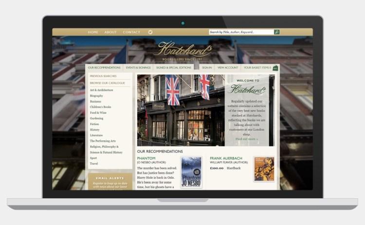Hatchards Bookshop website screenshot