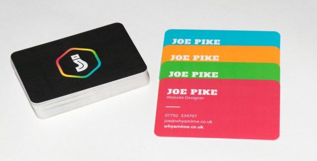front end web developer business cards