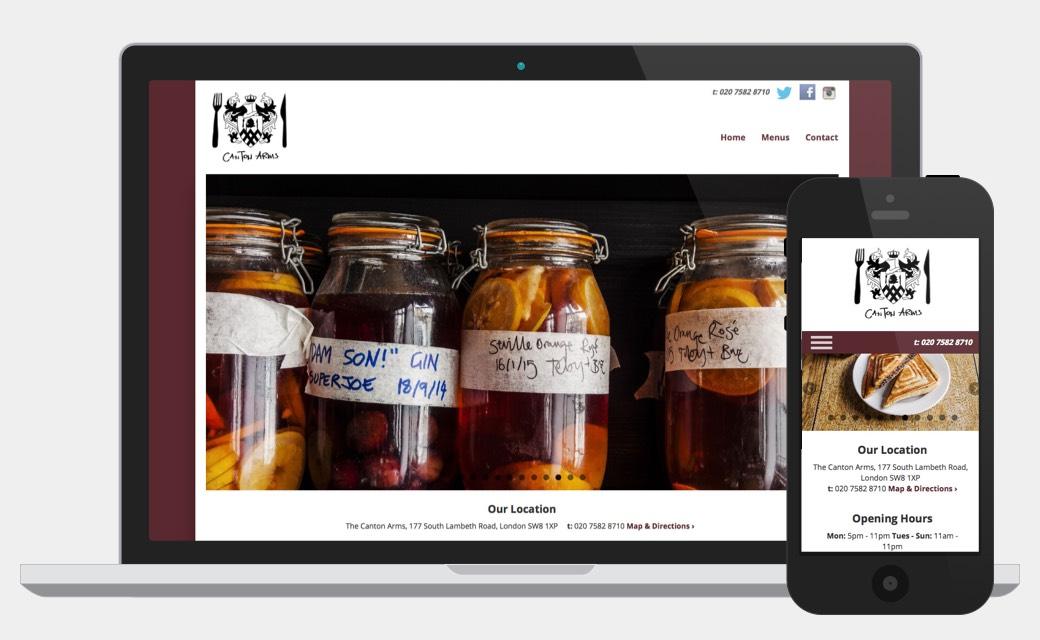 Canton Arms Pub website