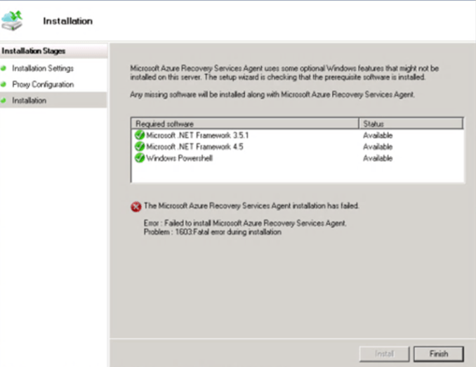 Issues with Azure MARS Agent Backup | Why Azure?