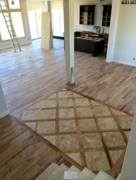 The finished entry floor!