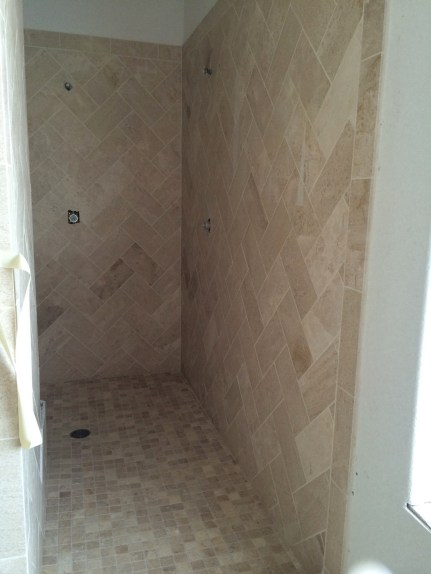 The finished shower!