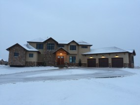First snow fall on the house.