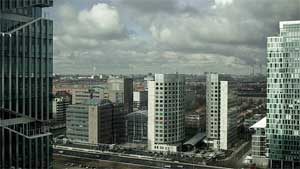 The Zuidas office park area on the outskirts