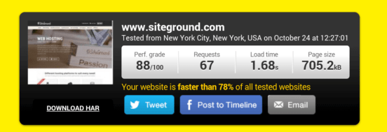 siteground review speed test