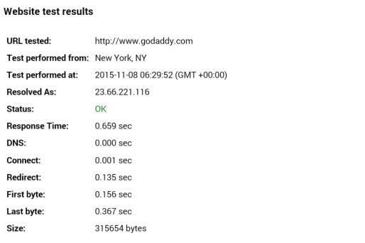 godaddy review performance