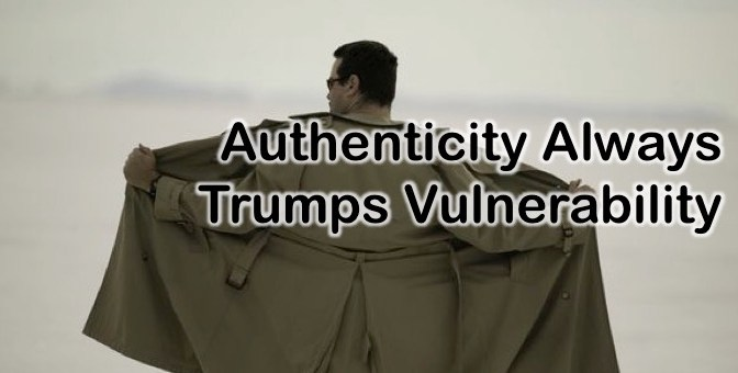 vulnerability vs. authenticity