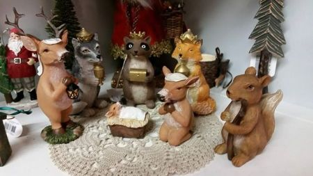 woodland creatures nativity