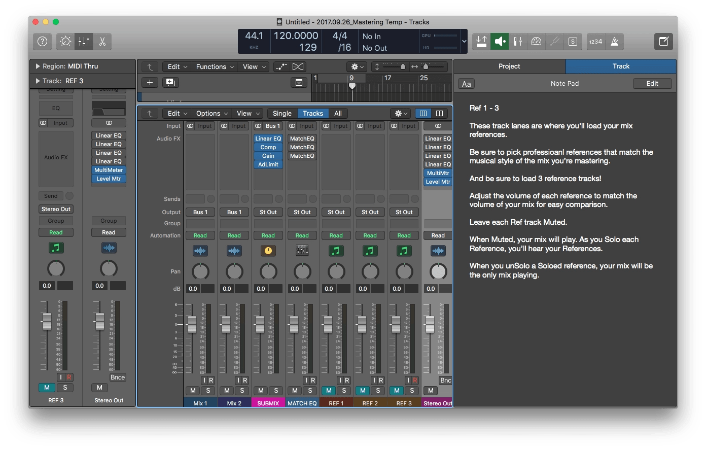 Free Logic Pro X Mastering Template