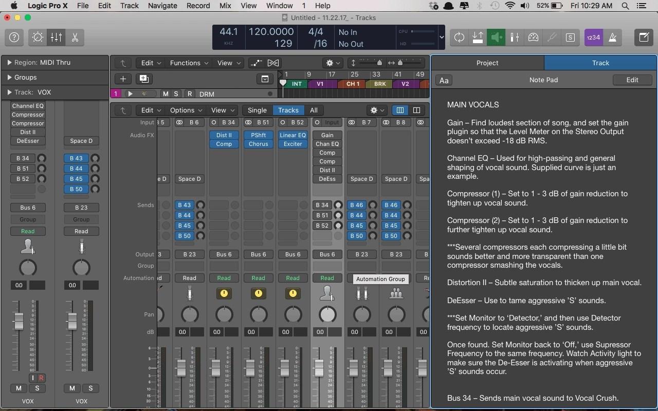 Logic Pro X Free Mix Template