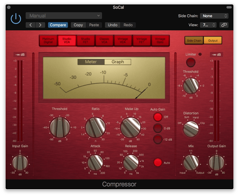 Logic Pro X Compressor Studio VCA Circuit