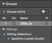 Logic Pro X Group Settings