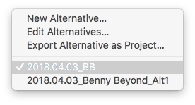 Logic Pro X Choosing Project Alternatives