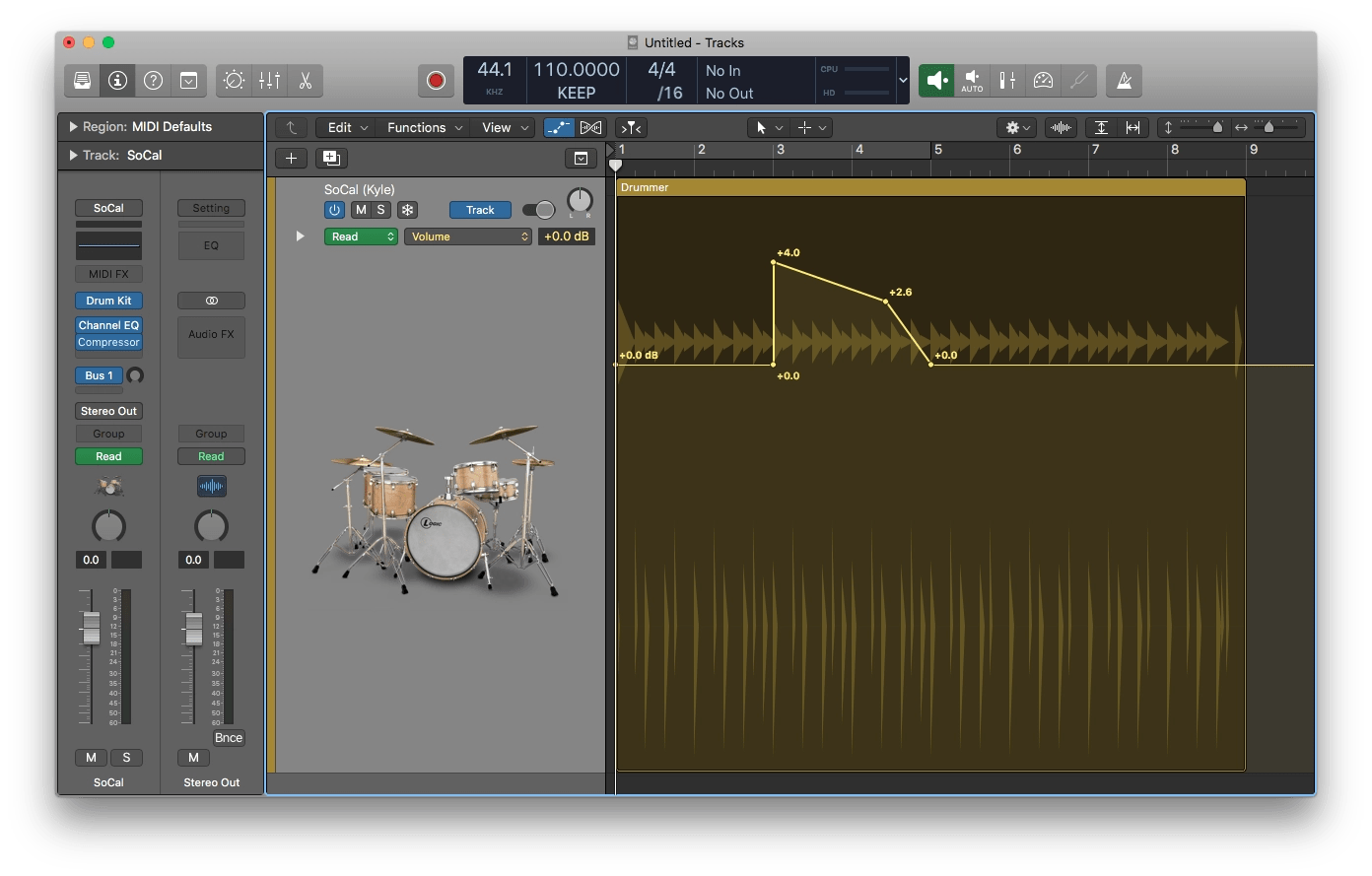Logic Pro X Automation Adjust Node