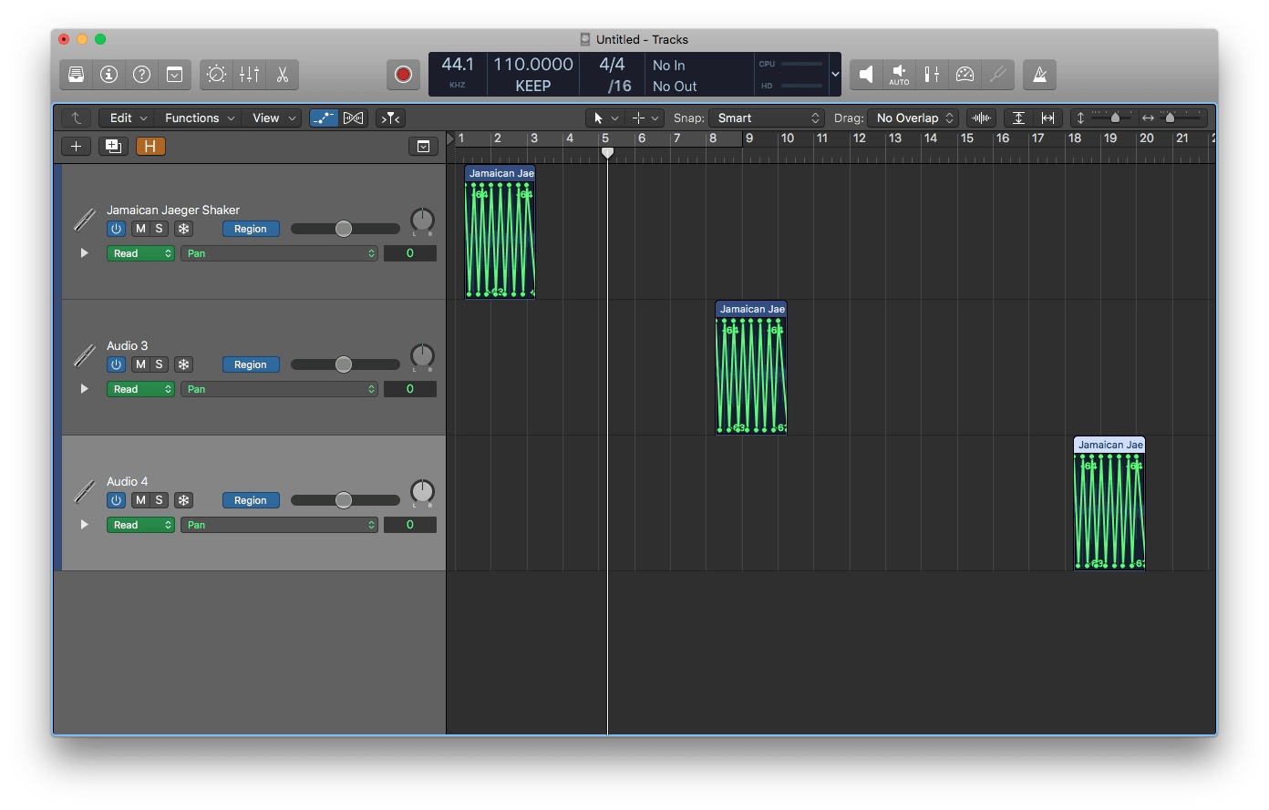 Logic Pro X Copying and Pasting Automation