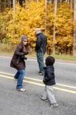 Fall Hike Sword Fight