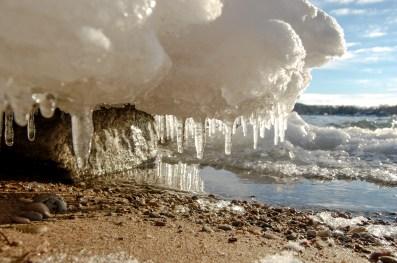 Haserot Beach Ice Shelf Underbelly