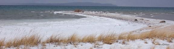 Winter Elk Rapids Sandbar