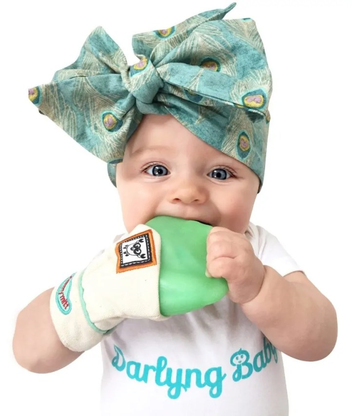"""YummyMitt Teething Mitten can be purchased here: ==/> http://amzn.to/2qqs696 #babyshower #gifts #mothersday #giveaway #sweeps"""" width=""""334″ height=""""396″> <img class="""